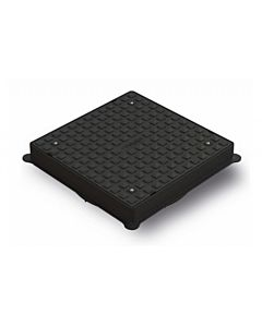 POLYPIPE UG510 460MM POLY SQUARE COVER & FRAME A15