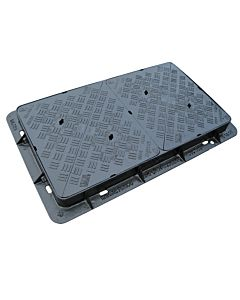 Ductile Iron, Double Triangular Solid Top Cover & Frame