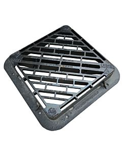 Double Tri Gully Grating & Frame, 2363cm2 Waterway