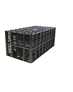 POLYSTORM CELL CRATE L/TRAFFIC 61T PSM1A BLACK FOC - 4 PSM CLIPS PER CRATE  / RECYCLED CONTENT