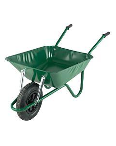WHEEL BARROW GREEN 90LTR PUNCTURE FREE